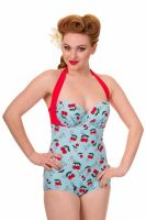 Dancing Days Cherry Blindside Full Swimming Costume - Sizes XS & S