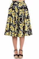 Hell Bunny 1950's Leandra Skirt - Lemon Print