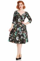 Voodoo Vixen Ellie Floral Swing Dress - SIZE SMALL ONLY