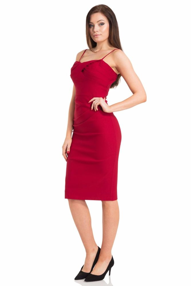Vintage Style Jayne Mansfield 1960s Bombshell wiggle dress in Red