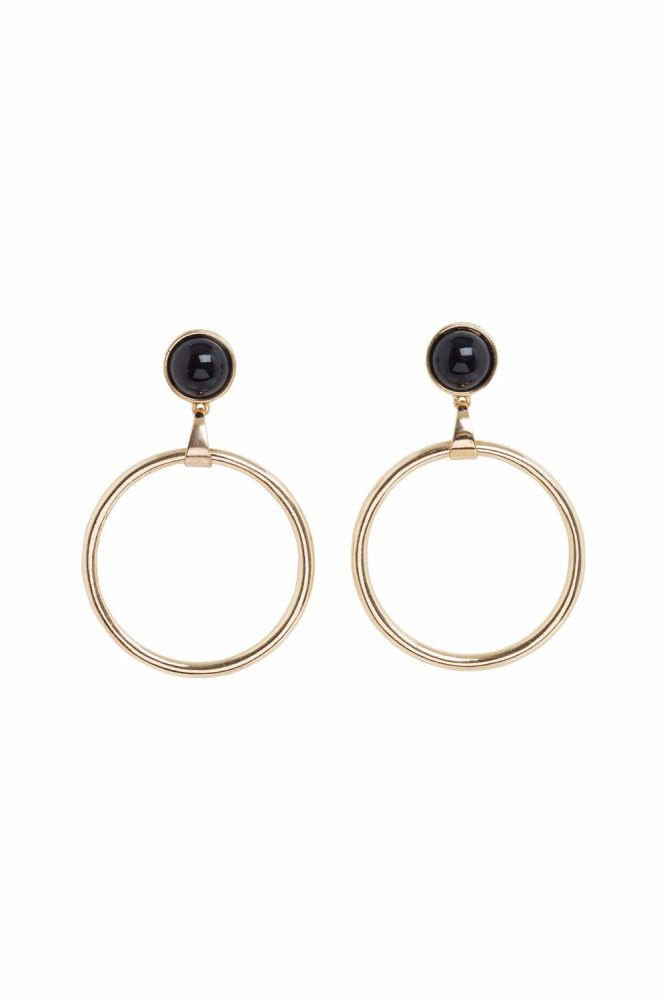 Vintage Style Retro Gold Hoops