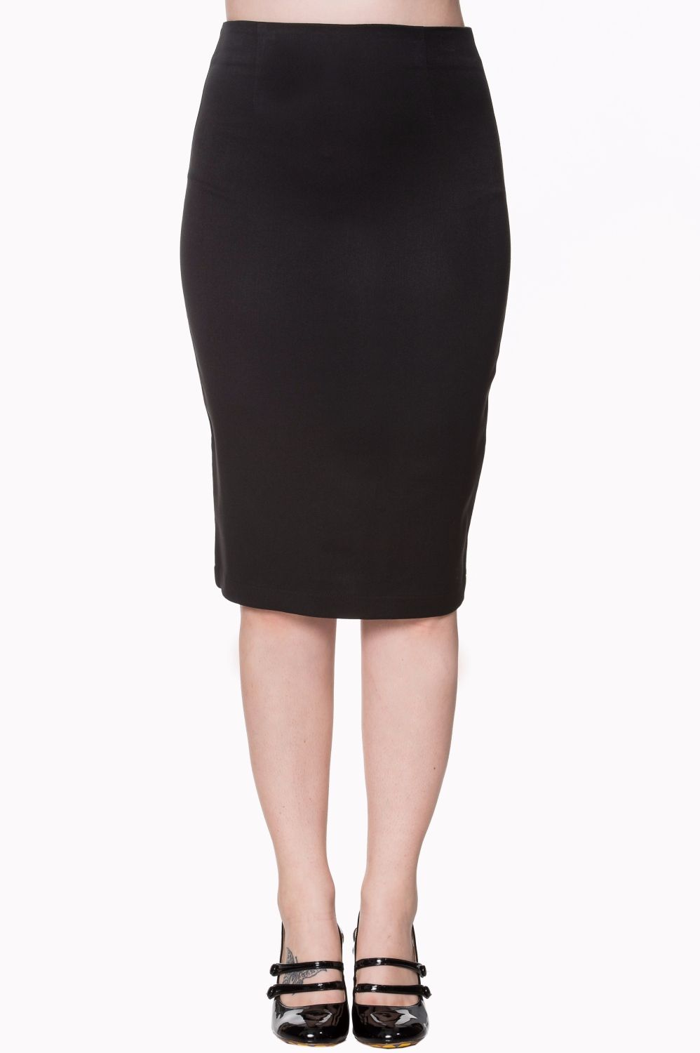 Dancing Days by Banned - Paula Vintage Style Pencil Skirt in Black