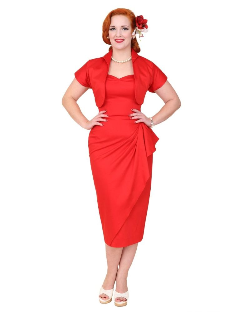 Vivien of Holloway 1940s Sarong and Bolero in Red
