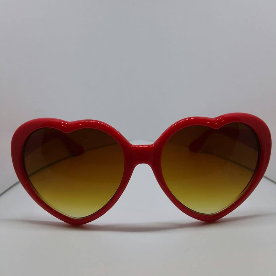 LuLu Love Heart Sunglasses in Red