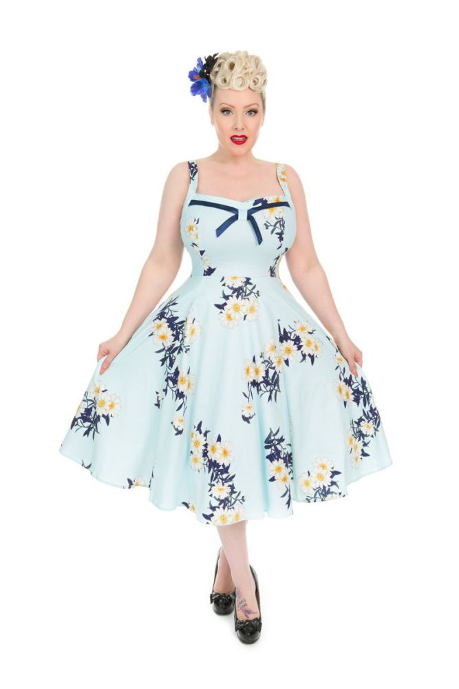 Vintage Style 1950's 1960's Daisy Day Dress - Size 8 Only