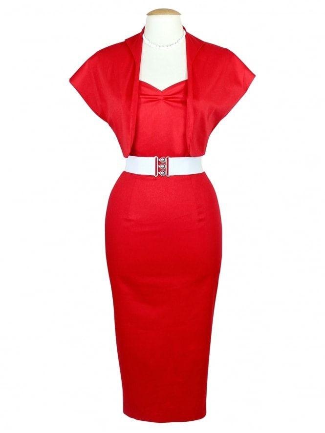 Vivien of Holloway - Bombshell Red Sateen Dress