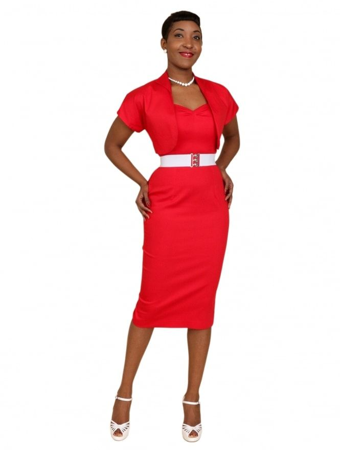 Vivien of Holloway - Bombshell Red Sateen Dress