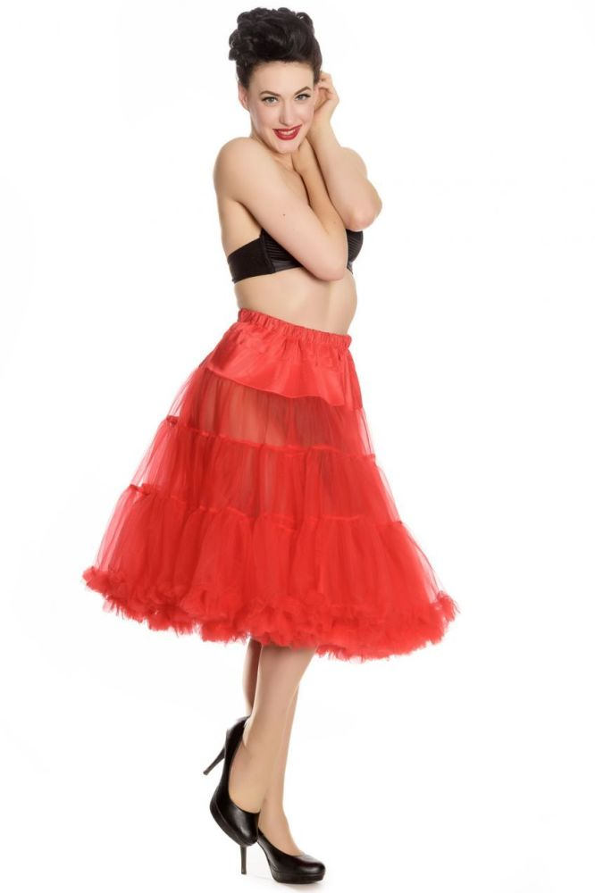 1950's Vintage Style  Long Red Petticoat - Size L to 2XL