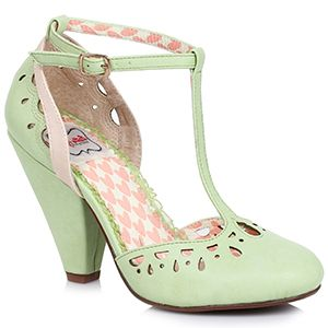Bettie Page Elsie Shoes - Green