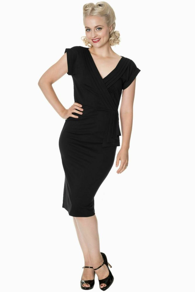 Evening Chic Dress in Black - Size Small