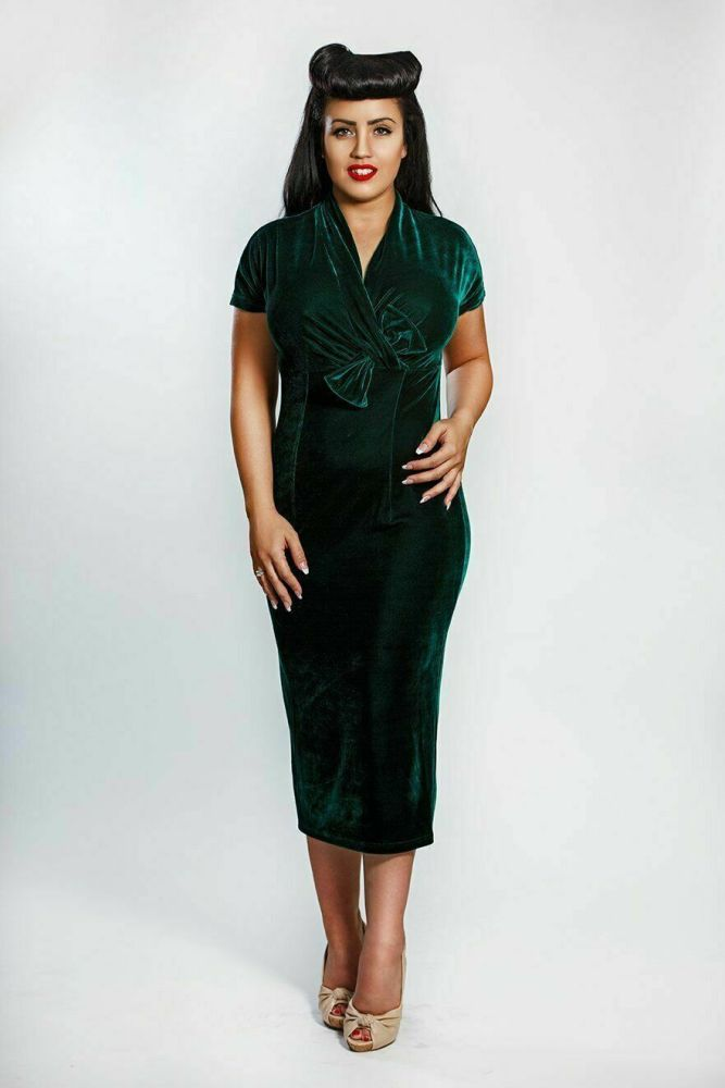 Rebel Love Clothing Emerald Green Adore You Dress - Size Small