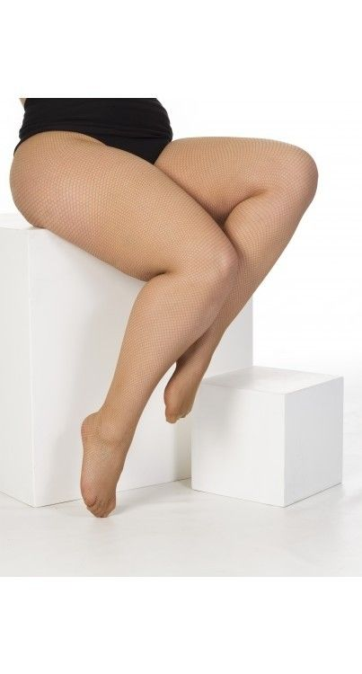 Pamela Mann Nude Fishnet Tights - One Size