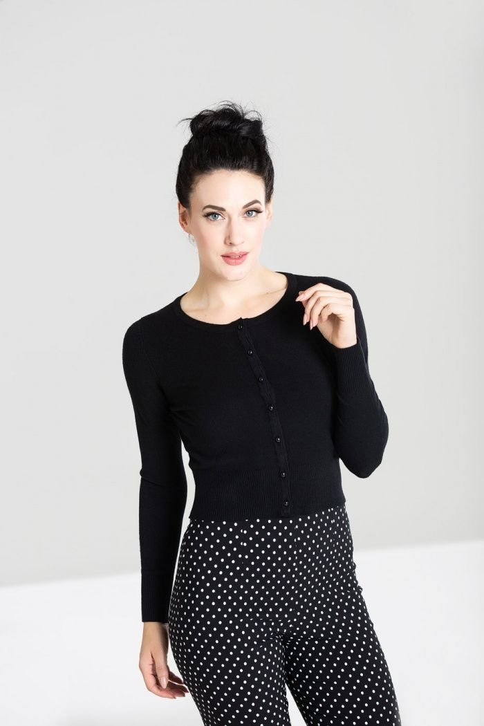 Vintage Style Cardigan Paloma in Classic Black