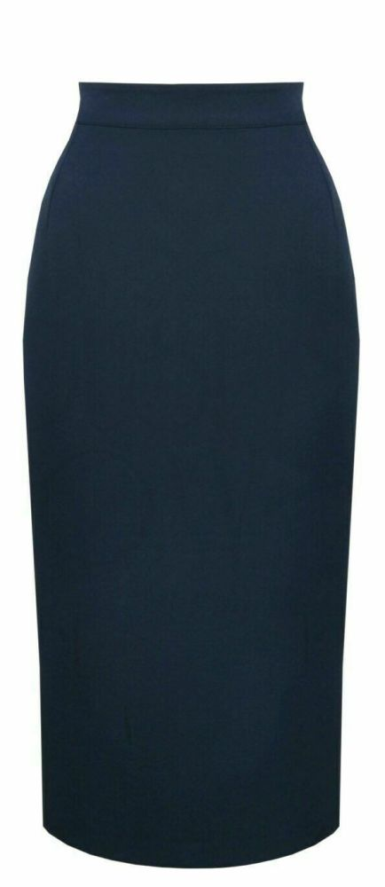Vintage Classic Navy 50's Perfect Pencil Skirt by The House of Foxy