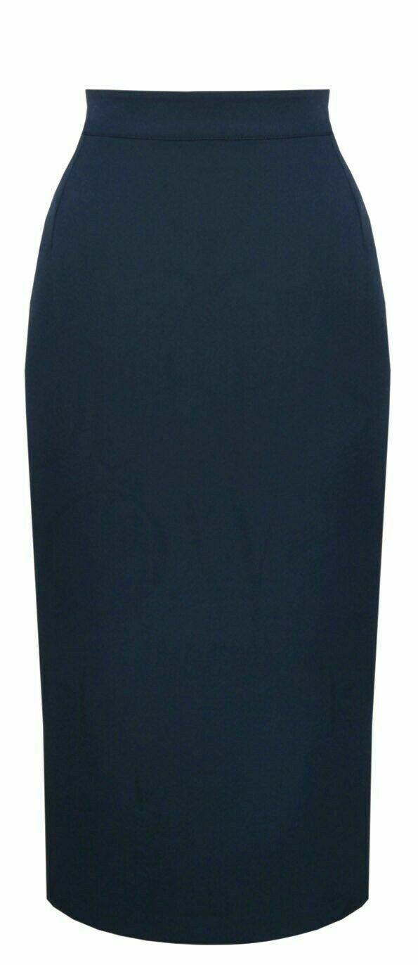 Vintage Classic Navy 50's Pencil Skirt by House of Foxy