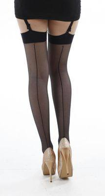 Pamela Mann Seamed Stockings - Black