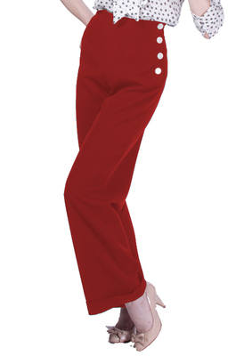 20th Century Foxy - 1940s Swing Pants in Red