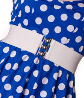 Hell Bunny 50s Retro Rockabilly Elasticated Waist Cinch Belt - White - Sizes M & L Only