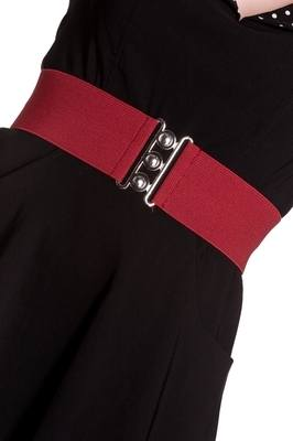 3inch Elasticated Cinch Belt - Burgundy