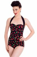 Hell Bunny Cherry Pop 50's Swimsuit