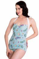 Hell Bunny Sea Sparkle 50's Swimsuit