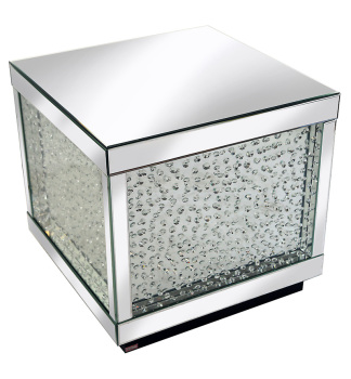 Floating Crystals Square Mirrored Cube large