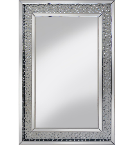 Floating Crystals Rhombus Bevelled Wall Mirror 90cm X