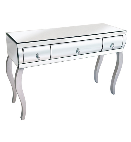 Mirrored Curved 2 draw Console Table