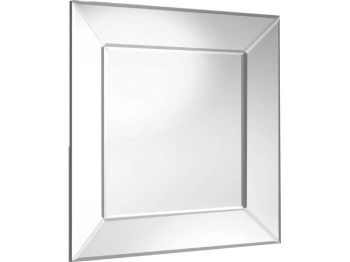 "Venetian Tray Silver Bevelled Mirror 36"" x 36"""