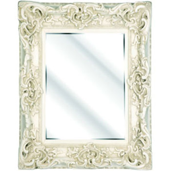 Rococo Core Ivory / Cream Bevelled Wall Mirror 6 sizes