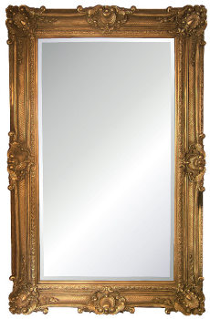 Rococo Extra Large Gold Bevelled Mirror