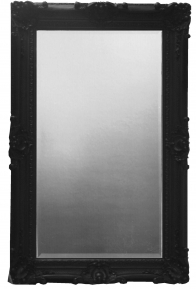 Rococo Extra Large Black bevelled Mirror
