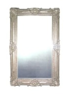 Rococo Extra Large Silver Bevelled Mirror
