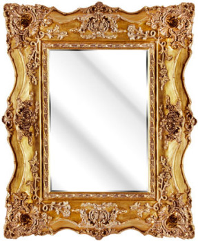 Rococo Ricci Gold Shaped Mirror 92cm x 103cm