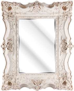 Rococo Ricci Ivroy / Cream shaped mirror