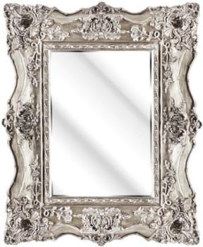 Rococo Ricci Silver Shaped Mirror