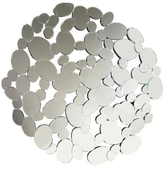 Multi Facet Circles Bevelled Mirror 100cm Dia
