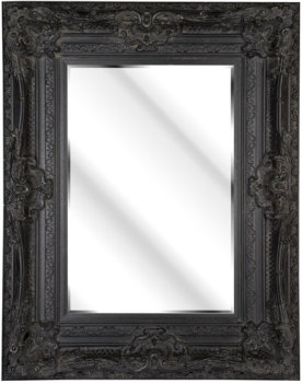 Rococo Diana Black Bevelled Mirror 6 sizes