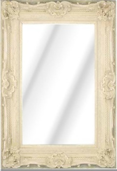 Rococo Diana Ivory / Cream Bevelled Mirror 6 sizes