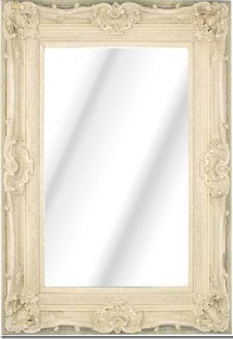Rococo Diana Ivory / Cream Bevelled Mirror