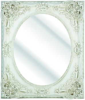 Rococo Oval Ivory / Cream Bevelled Mirror  4 sizes