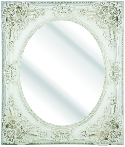 Rococo Ivory / Cream Bevelled Mirror