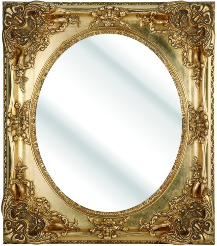Rococo Oval Gold Bevelled Mirror