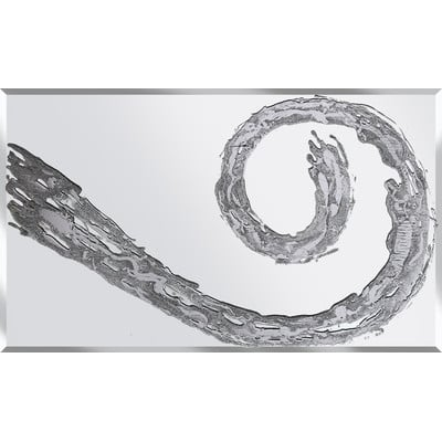 Glitter Swirl in Silver on a Silver Bevelled Mirror