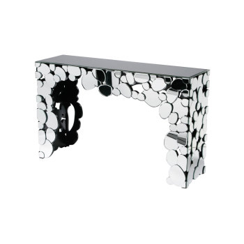 Multi Circles Mirrored Console Table