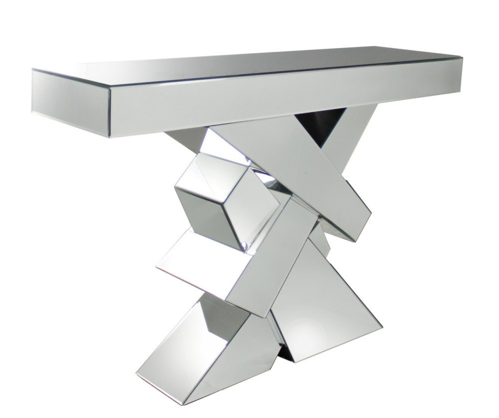 Criss Cross Mirrored Console Table