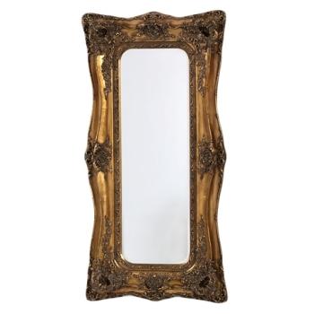 Rococo Ricci Gold Shaped Bevelled Mirror 90cm x 16cm x 179cm