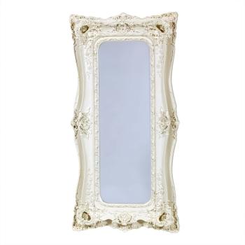 Rococo Ricci Ivory / Cream Shaped Bevelled Mirror 90cm x 16cm x 179cm