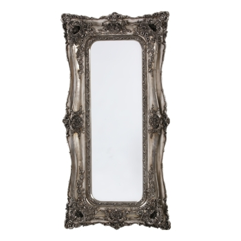 Rococo Ricci Silver Shaped Bevelled Mirror 90cm x 16cm x 179cm