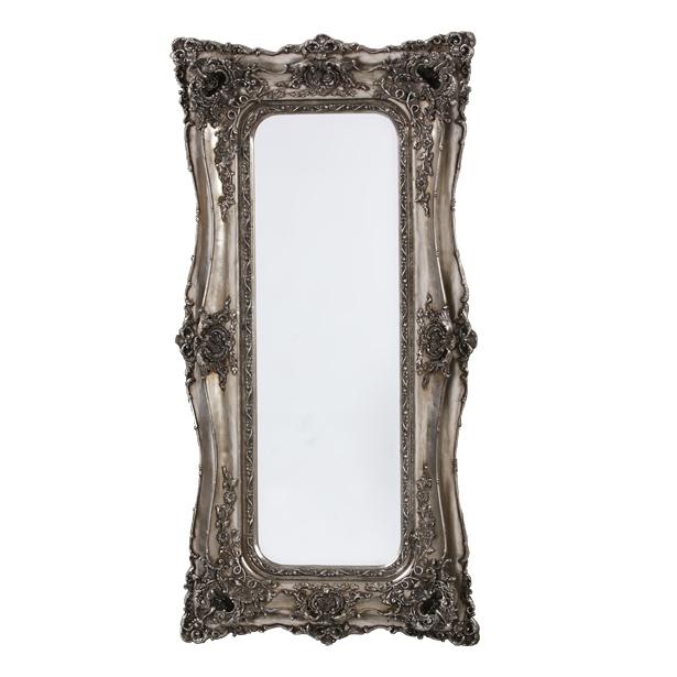 Rococo Ricci Slim Silver Shaped Bevelled Mirror
